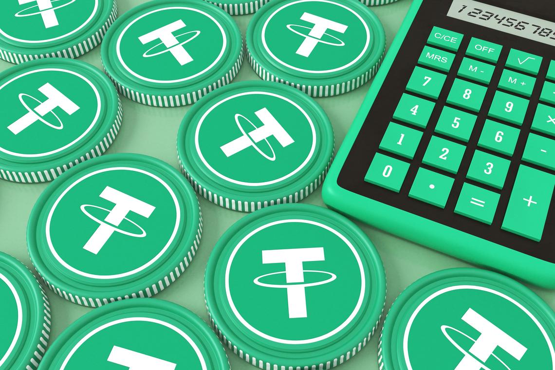 Tether USDT coins