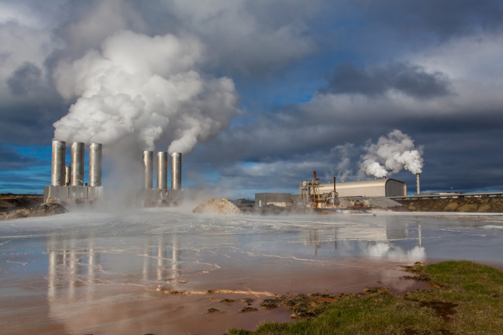 Iceland geothermal power plant