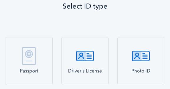 coinbase id verification