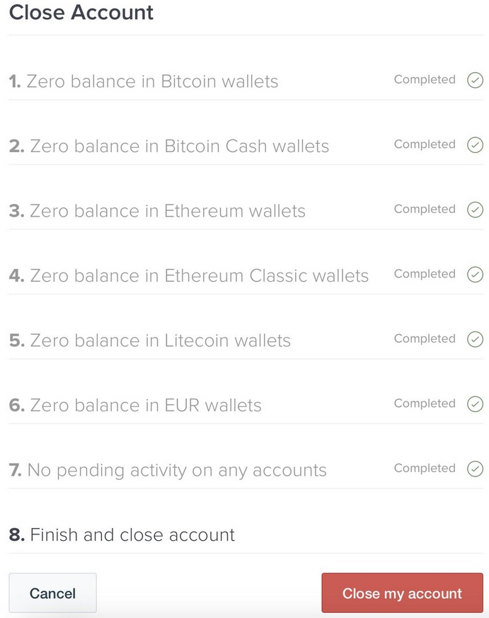 Coinbase Delete Account Requirements