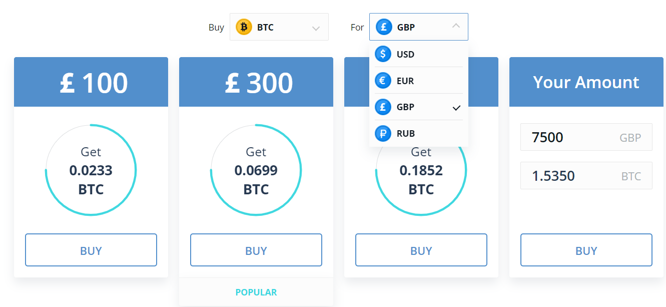 CEX.io Buy Bitcoin