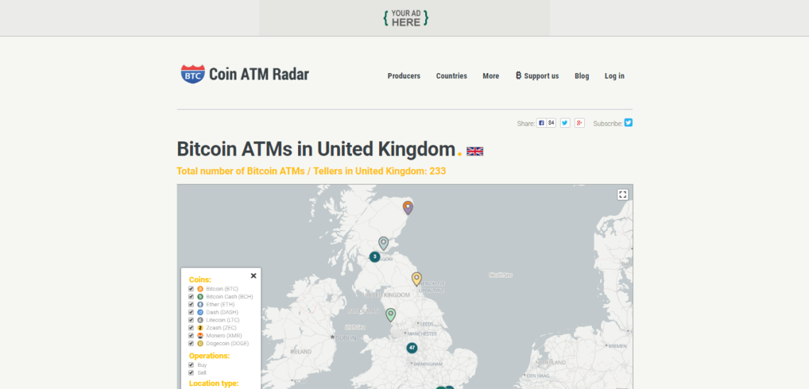 Bitcoin ATMs UK