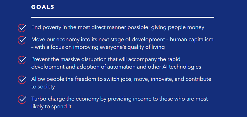 Freedom Dividend Goals