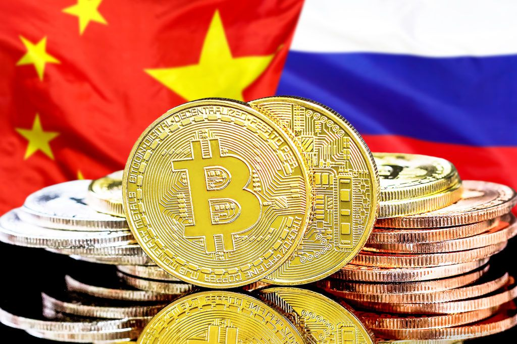 china russia bitcoins