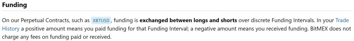 BitMEX funding