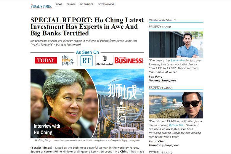 Facebook Bitcoin Scam Singapore