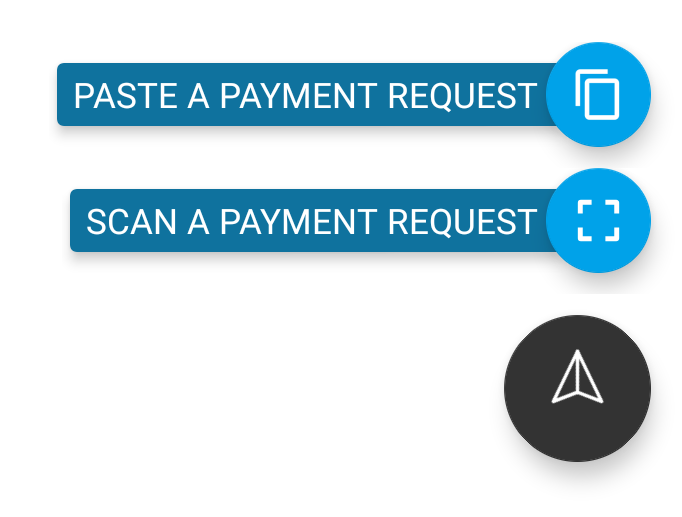 Example of Payment Request options in Eclair wallet
