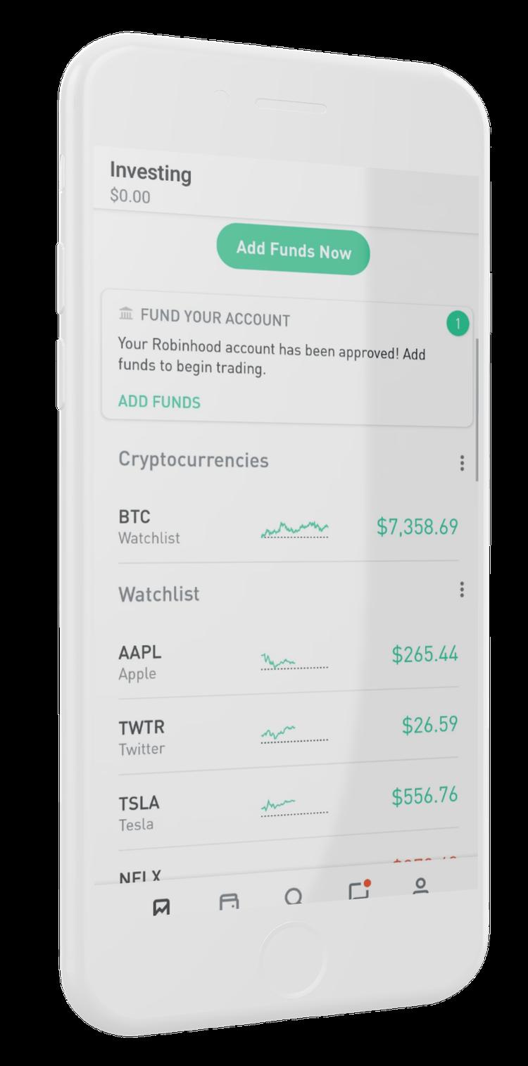 Robinhood application de trading crypto