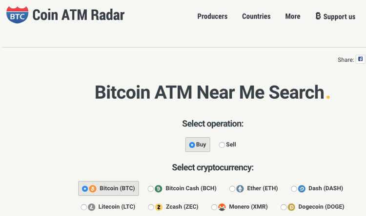 localiser un distributeur automatique de bitcoin