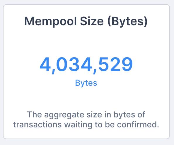 mempool size