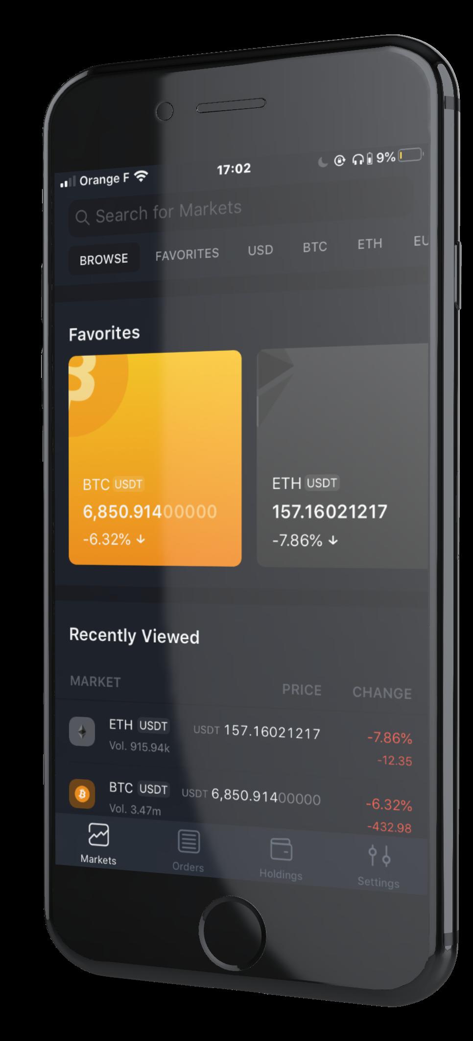 Bittrex app