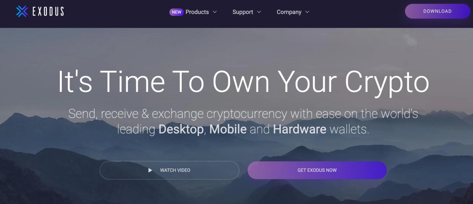 portefeuille bitcoin exodus