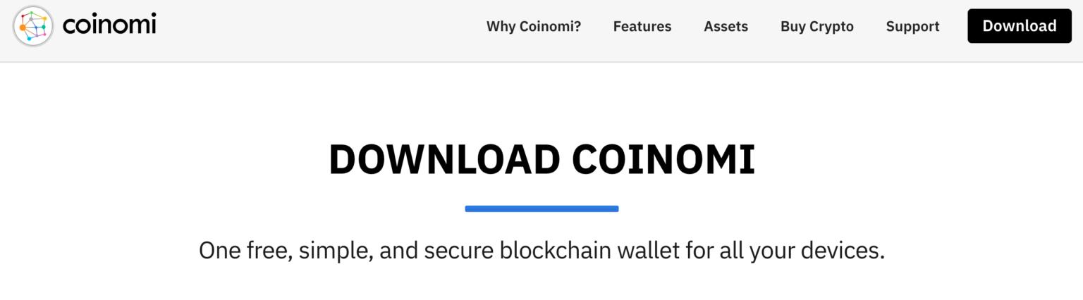 portefeuille bitcoin coinomi