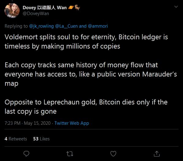 Harry Potter - Bitcoin Comparisons