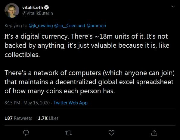 Vitalik Buterin on Bitcoin