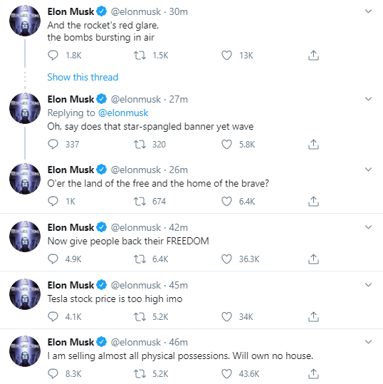 forbes on twitter elon musks net worth jumped 17 tesla stock tanks after elon musk warns of lofty valuation danny korcz