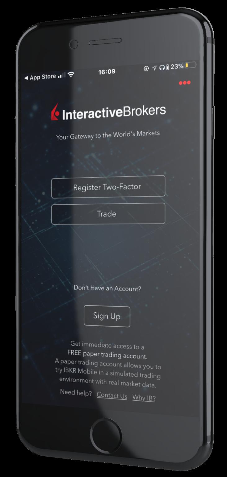 interactive broker application d'investissement