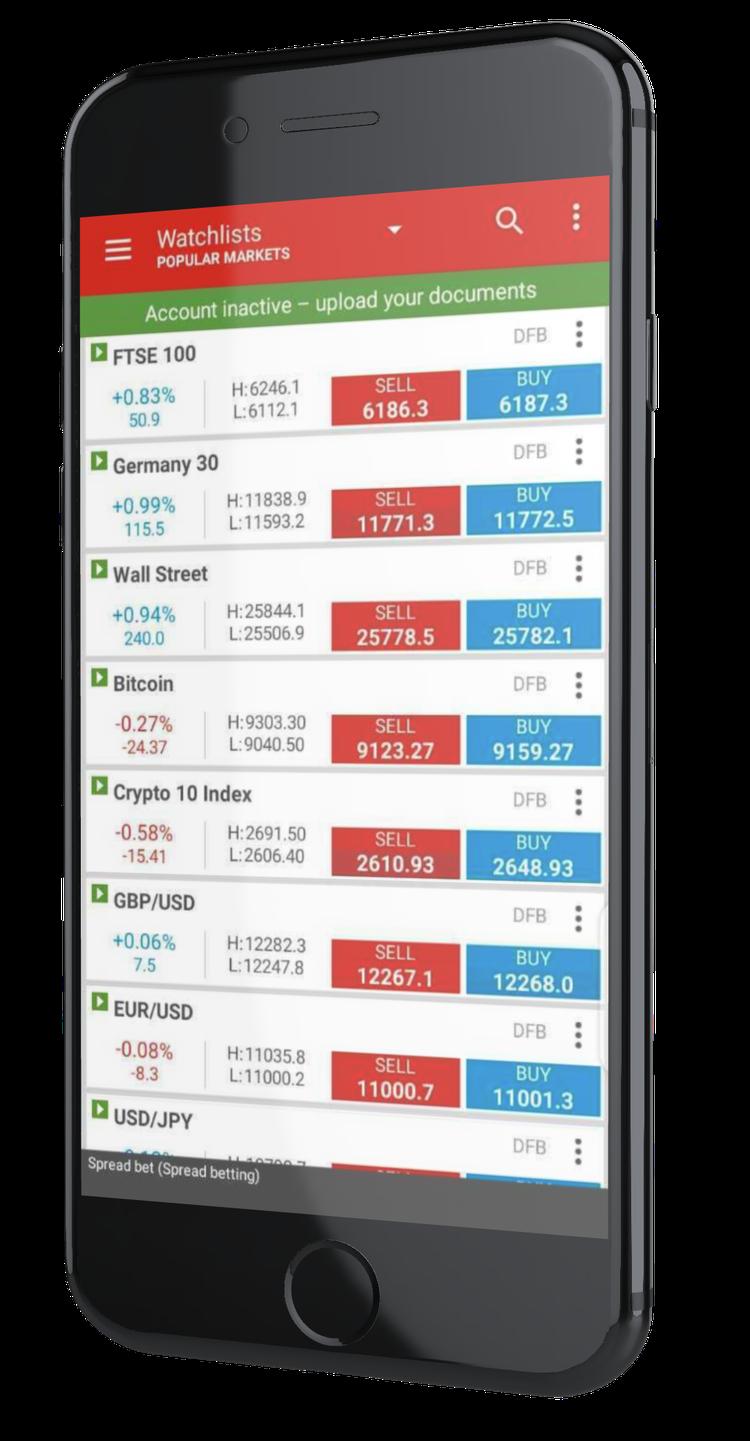ig markets application boursière