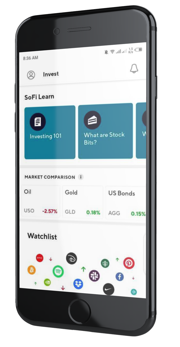 SoFi application d'investissement