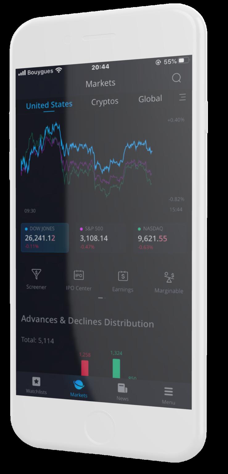 WeBull application d'investissement