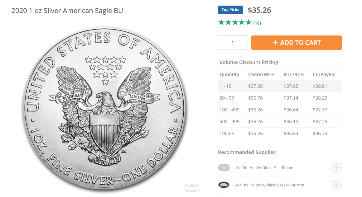 Price of silver american eagle coin beincrypto tony toro