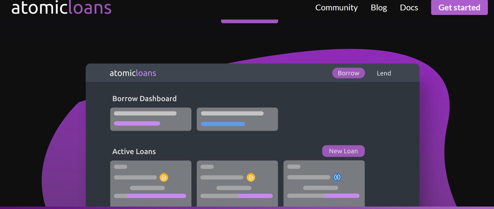 atomic loans user interface