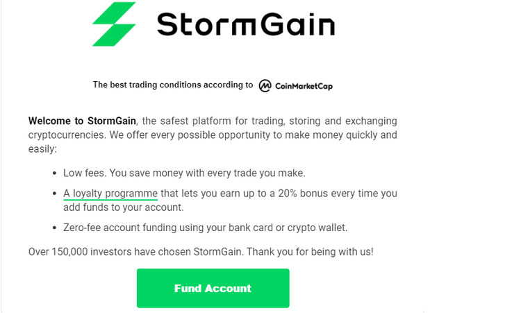 stormgain ouvrir compte