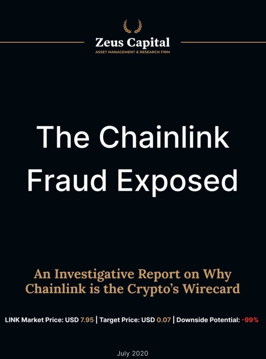 chainlink fraudulent report beincrypto tony toro