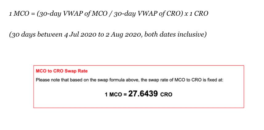 Official swap rate program CRO MCO beincrypto tony toro