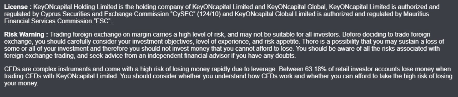 key on capital terms