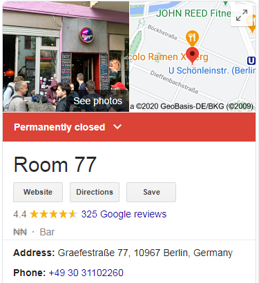 Berlin-Based Bitcoin Watering Hole Now Shuttered, Google Maps Reveals