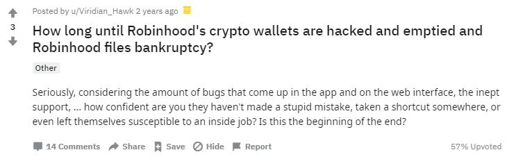 Crypto Users Saw Robinhood Hack Coming a Mile Away