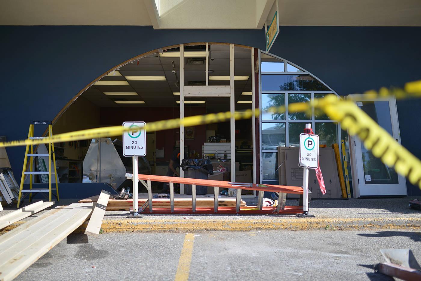 broken window storefront