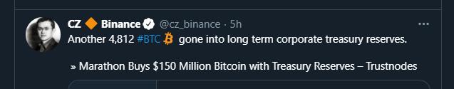 cz bitcoin marathon