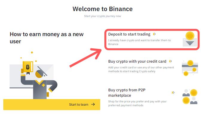 Binance Start Trading
