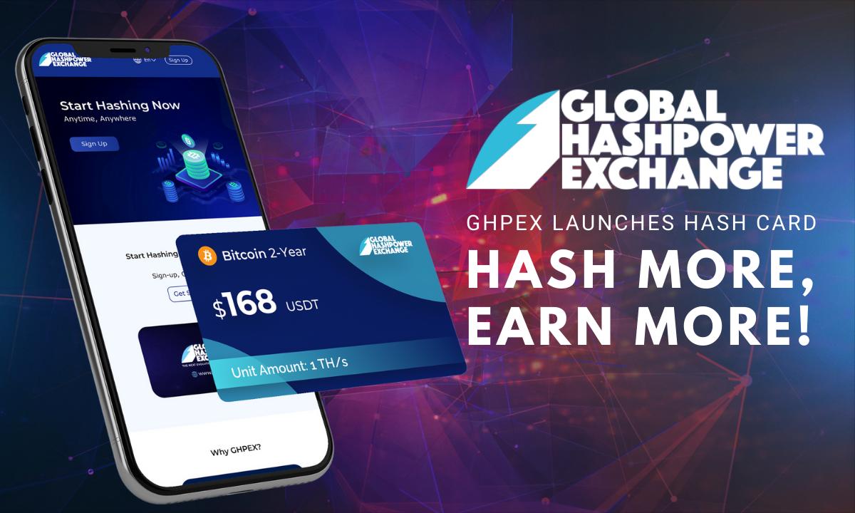 GHPEX Hash Card: Hash and Earn