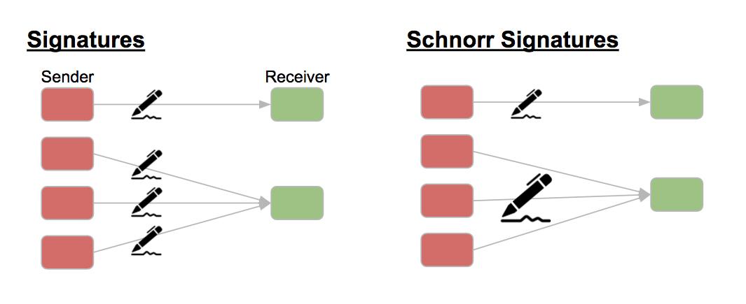 Comparing Schnorr signatures with regular ones
