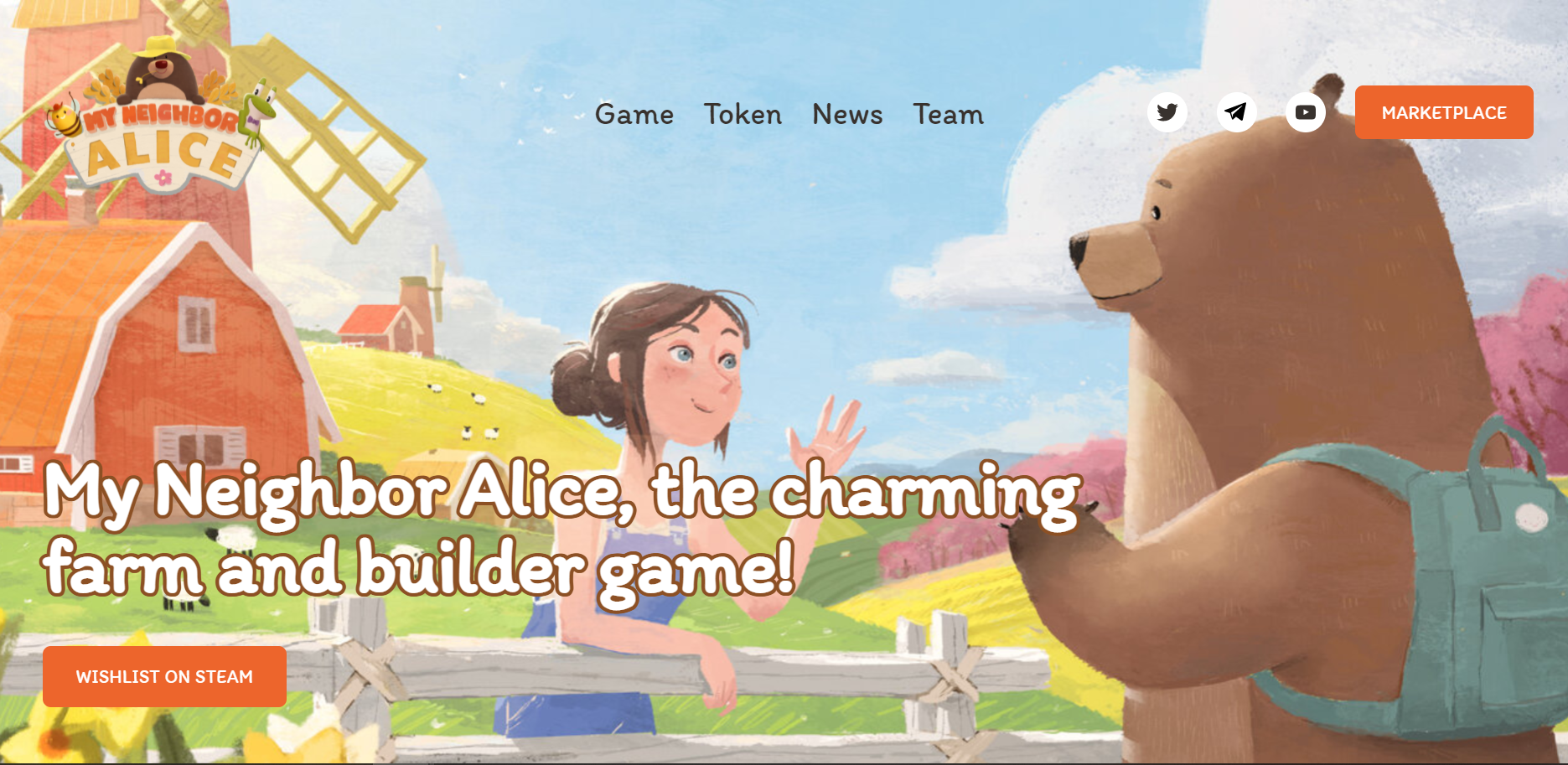 My Neighbor Alice is a blockchain-based game