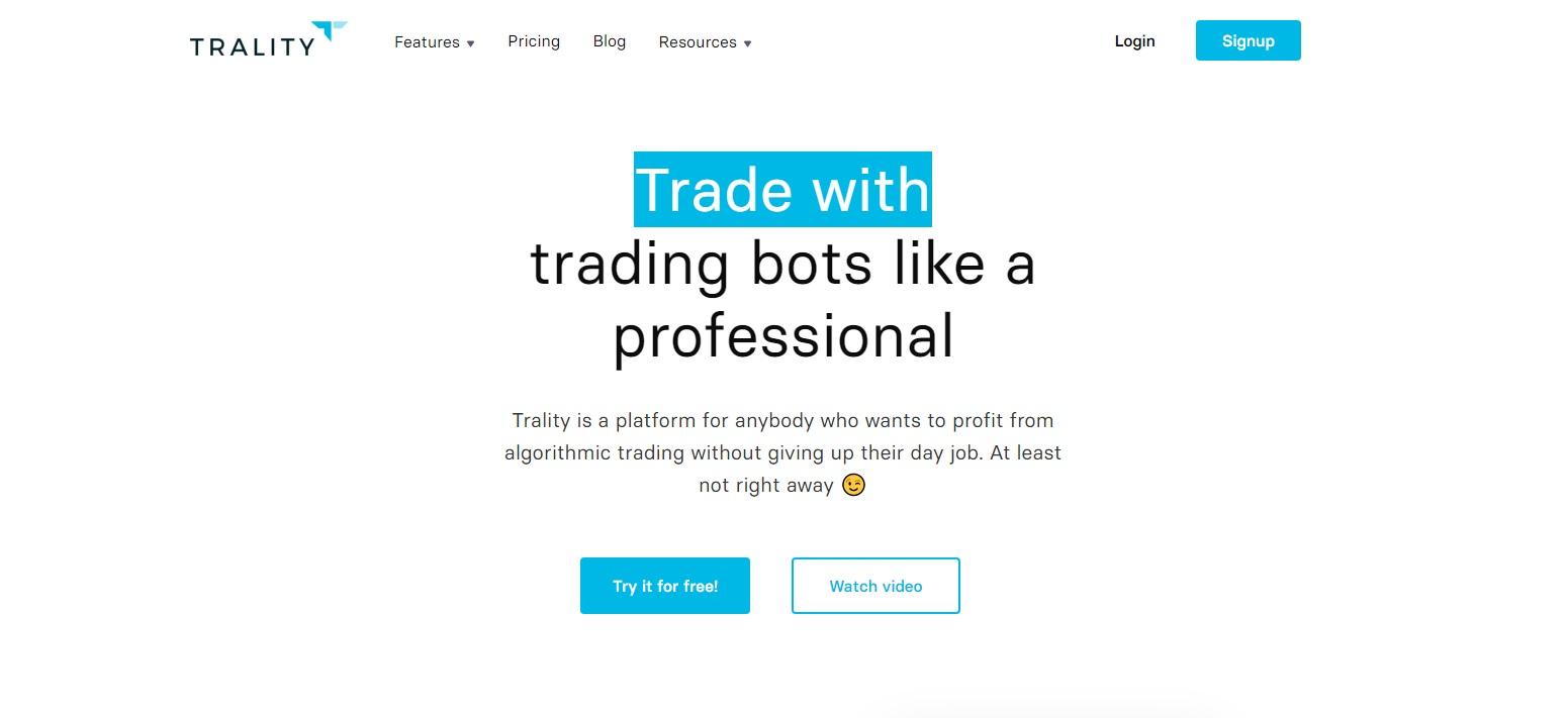 Trality crypto trading bots