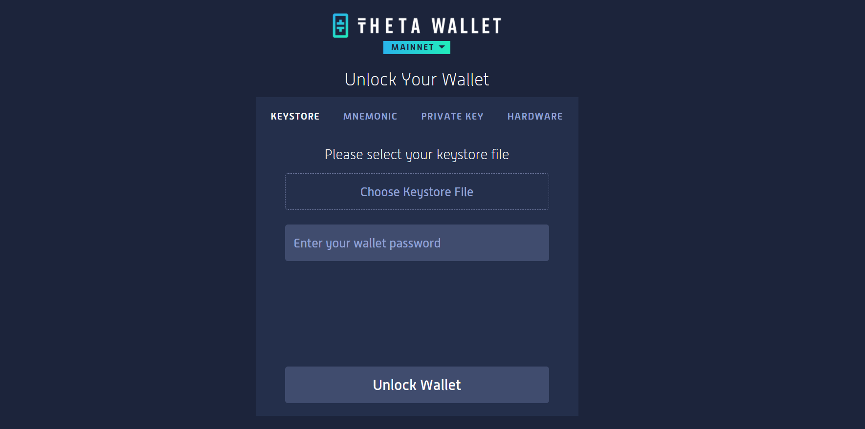 How to stake theta: unlock the theta wallet
