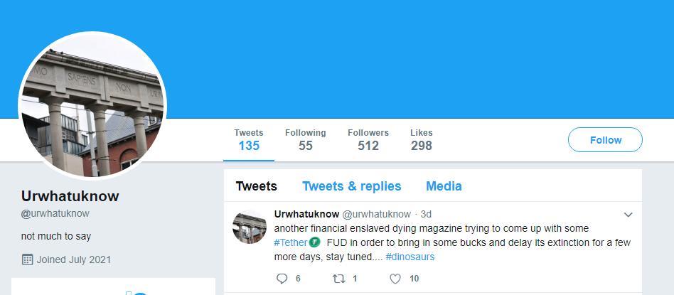 CEO Tether xóa tài khoản Twitter sau báo cáo điều tra của Bloomberg
