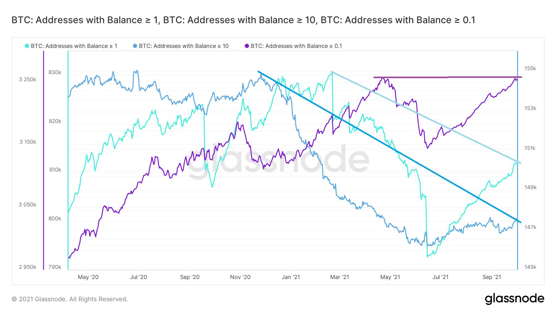 Liczba adresów Bitcoina