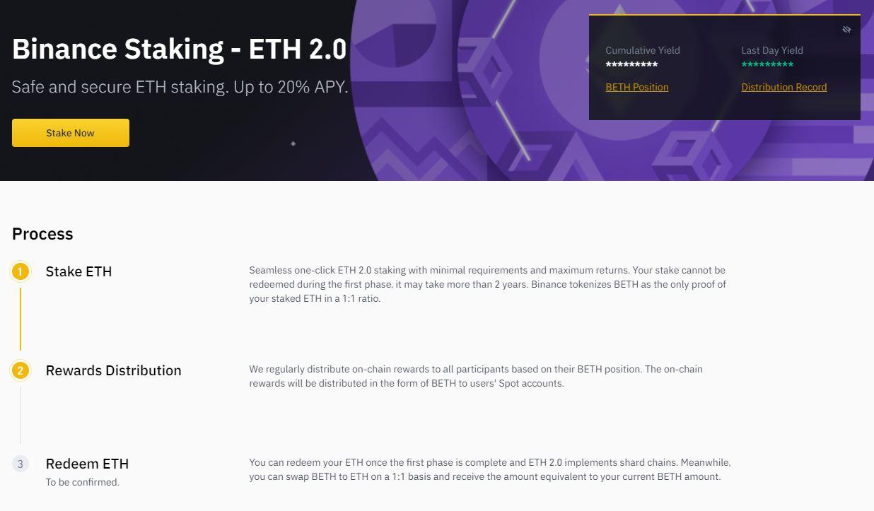 how to stake Ethereum binance staking 1