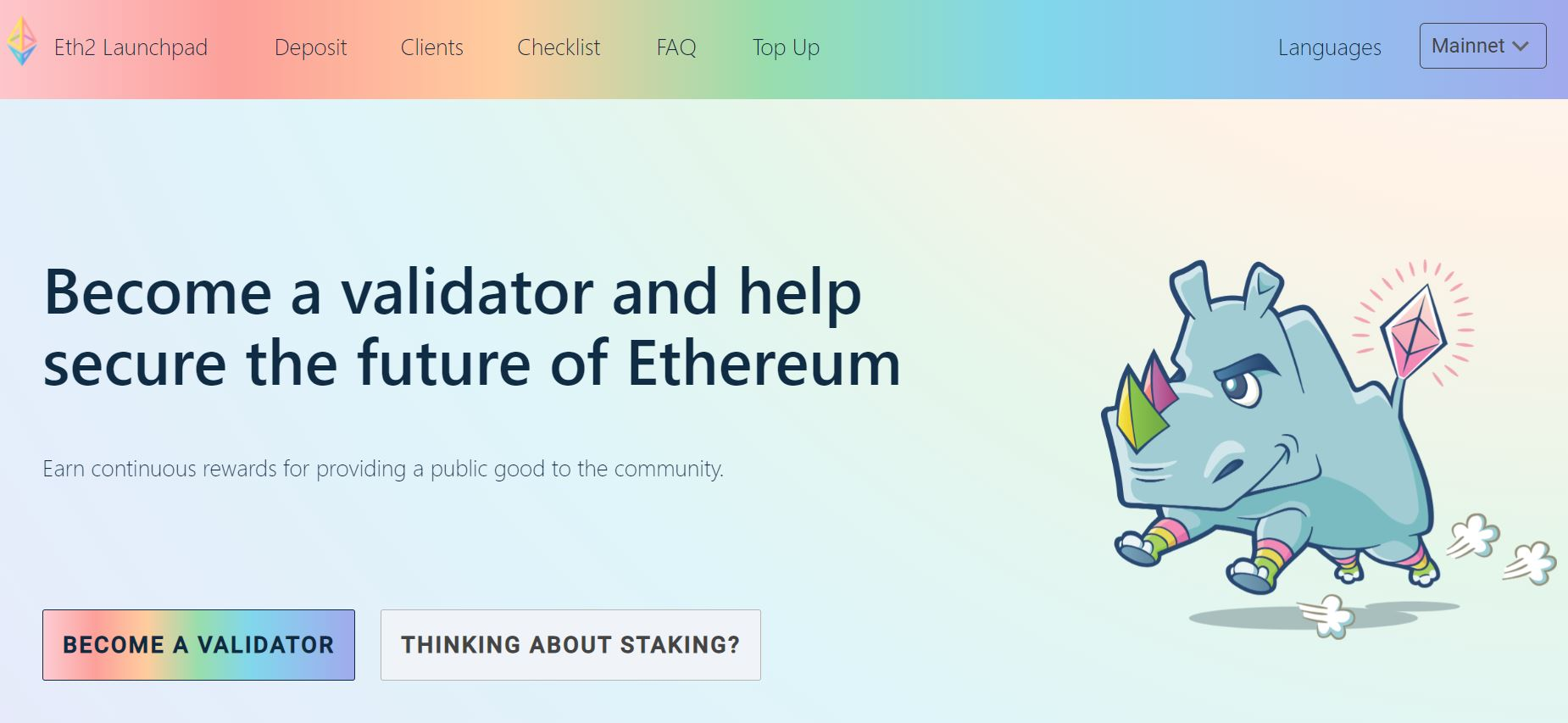 how to stake Ethereum validator